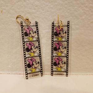 Vintage Minnie Mouse Movie Reel Earrings